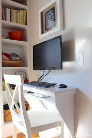 Built in kitchen desk DIY and built in bookcase