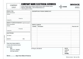 Electrical Invoice Template Free Electrical Work Invoice Template Electrical Work Order Invoice 42