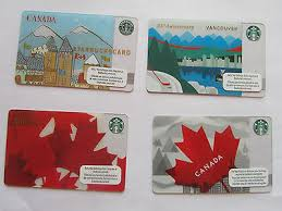 starbucks gift card canada lot set olympics vancouver maple leaf 25th 2009 2016