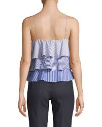 Renvy Size Chart Renvy Ruffle Striped Camisole 1411775890