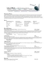 Resume Of An Artist Artistic Resume Example Madratco Resume