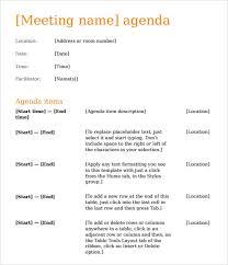 Sample Agendas For Board Meetings 12 Sample Agenda Templates Free Samples Examples Format