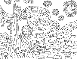 Pin By Janet Willoughby On Art Van Gogh Art Coloring Book Art
