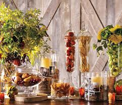 Thanksgiving decorations  Fruit is a natural accessory. It adds such a  visual and textural element to a