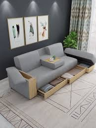 small multifunction sectional sofa with