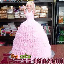 Barbie Doll Shape Cake Design 3 Delivery In Ghaziabad Indirapuram