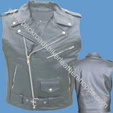 details about mens leather motorcycle biker jacket sleeveless vest