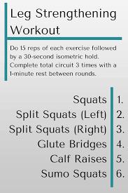 leg strengthening workout