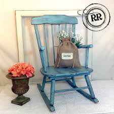 Adorable Vintage Child\u0027s Rocking Chair!! Painted with homemade ...