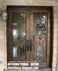 modern double door designs. Italian Wrought Iron Glass Door Inserts For Modern House, Double Doors Designs