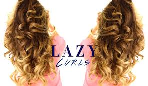 Hair Style Curling 5minute lazy curls easy waves hairstyles youtube 4756 by wearticles.com