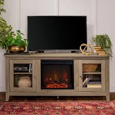 light brown traditional 58 inch fireplace tv stand rc willey furniture