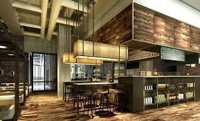 wall ladder decor luxury wooden decor 3 d model modern restaurant interior brick wall 1 max