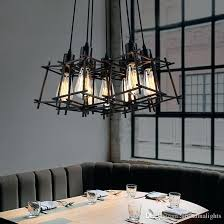 modern hanging lights modern pendant lamps industrial retro hanging pendant lights fixture black metal cafes lamp