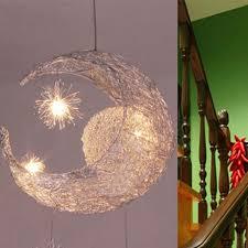 au moon star pendant lamp chandelier light ceiling lampshade kids room decor