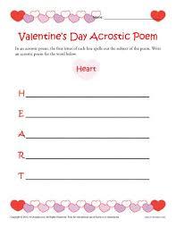 valentine s day acrostic poem activity