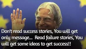 "is it better to learn from our own mistakes or the mistakes of  just remember dr a p j abdul kalam quotes "" failure stories only because you will get some ideas to get success "" not for obsessed your problems"