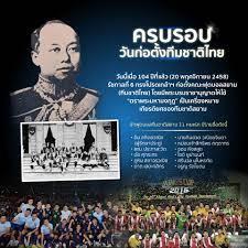 ครบรอบวันก่อตั้งทีมชาติไทย... - สารานุกรมฟุตบอลไทย