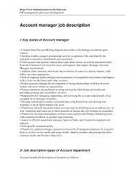 Account Manager Job Description Key Account Manager Job Description Image Resume Examples 1