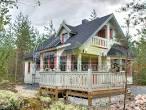 Деревянный дом серого цвета фото