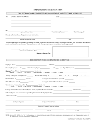 Employment Verification Form 4 Free Templates In Pdf Word