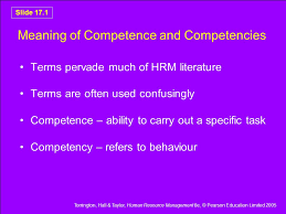 Competencies Meaning Meaning Of Competence And Competencies Ppt Video Online Download