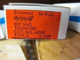 shawmut 60 amp fuse ot60 new box of 10 • 20 00 picclick 10 shawmut a6y5 amp trap 5 amp fuse box of 10 new