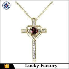 china fashional large various cubic zirconia heart cross pendant necklace suppliers manufacturers factory happybeauty