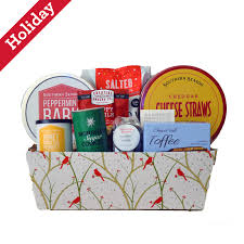 north carolina holiday cardinal gift basket