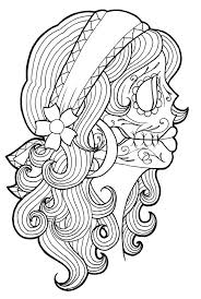 Small Picture Tattoo coloring pages sugar skull girl ColoringStar