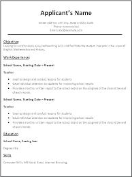 Elementary Teacher Resume Template Cool Teaching Resumes Samples Resume Ideas Pro