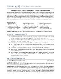 Michael Kyle Resume HR Operations Generalist Inspiration Hr Generalist Resume
