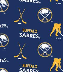 buffalo sabres fleece fabric 60 u0022 tossed