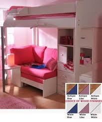 teen girls loft bed with desk | Stompa Casa 6 Kids High Sleeper Bunk Bed  Sofa