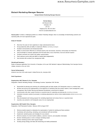 Field Marketing Manager Sample Resume Mwb Online Co