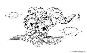 Magic Carpet Shimmer And Shine Coloring Pages Printable