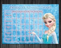 Disney Frozen Kids Rewards Chart Chart For Toilet Training