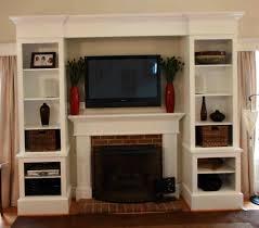 built in entertainment center fireplace