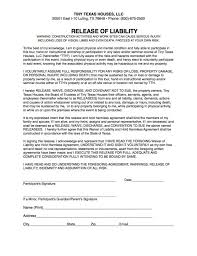 Template: General Liability Waiver Form Template Release Statement ...