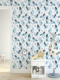 Removable Kids Wallpaper with Bluebirds ...