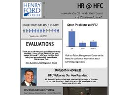 Employee Newsletter Hr Employee Newsletter April 2018 Henry Ford College
