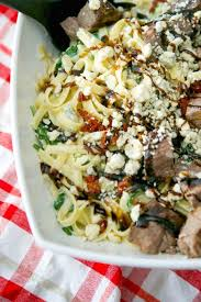 make this popular olive garden recipe for steak gorgonzola alfredo at home grilled steak over