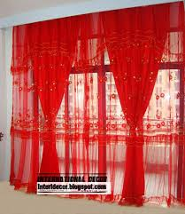 ... Nice Red Sheer Curtains and Interior Design 2014 Red Curtains And  Window Treatments In The ...