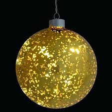 light up gold plated hanging glass ball lights solaray solar lighted holiday