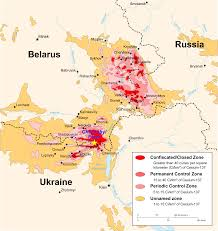 effects of the chernobyl disaster map showing caesium 137 contamination in the chernobyl area in 1996