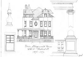 architecture design drawing.  Architecture Master Builders Of Lancaster Page 3 The Stiegerwalt House 1894 1896 Porch  Roof Balustrade Has Been Architecture  Intended Design Drawing N