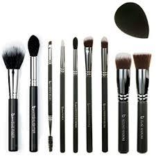 best of beauty junkees 10pc makeup brush set includes flat top kabuki round kabuki