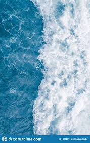 Pale Blue Sea Wave During High Summer Tide Abstract Ocean