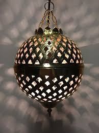 oriental ceiling lamp safiye gold colored small