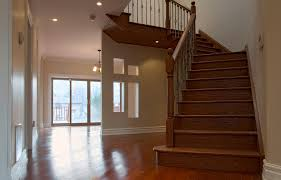 image of install hardwood floor transition to stairs